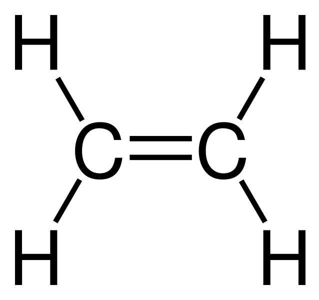 Ethene - Full Structural Formula