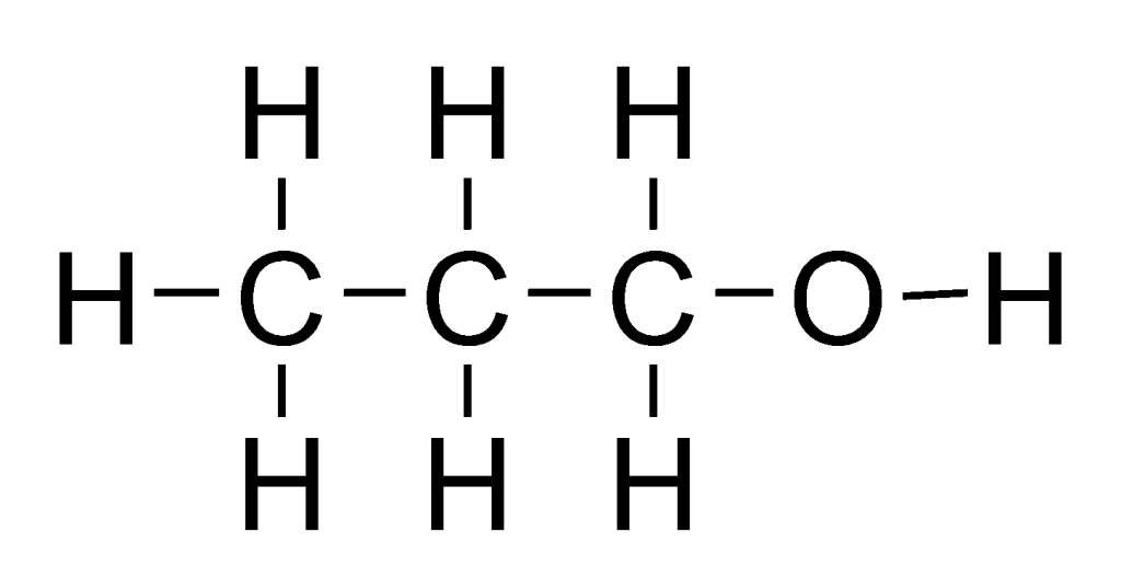 Propanol - Full Structural Formula