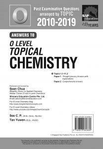 O Level Pure Chemistry Topical Ten Year Series Solution by Mr Sean Chua