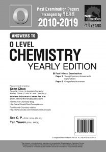 O Level Pure Chemistry Yearly Ten Year Series Solution by Mr Sean Chua