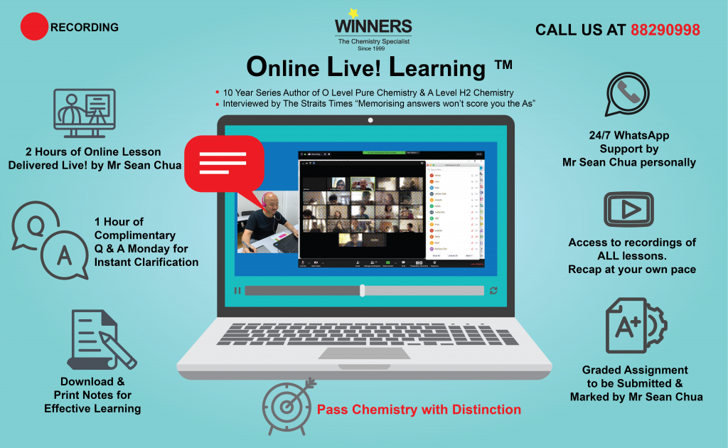 Online Live Chemistry Tuition for Sec 3 O Level Pure Chemistry IP Chemistry